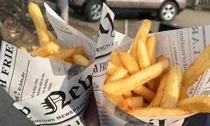 Frytki: Zestaw: dowolne frytki z sosem od 6,99 zł w lokalu Frytki (-42%)