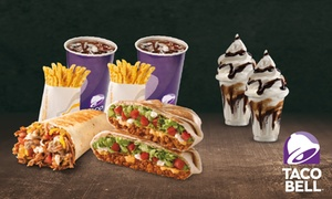 Taco Bell: 2 menús medianos a elegir y 2 tarrinas Bell por 9,95 € en 31 centros Taco Bell