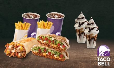2 menús medianos a elegir y 2 tarrinas Bell por 9,95 € en 31 centros Taco Bell