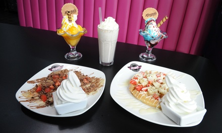 Frappe or Milkshake with Waffle, Sundae, Crepe or Cookie Dough at Kaspas Midlands, Two Locations Up to 34%