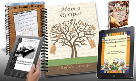 Lifetime Access To Custom Photo Cookbook-Making Software with Five or 10 Optional Cookbooks from Family Cookbook Project