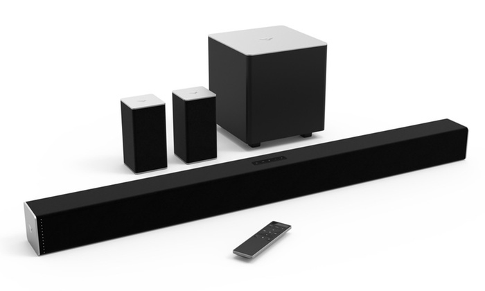 Vizio 38 5 1 Channel Sound Bar With Wireless Subwoofer And Satellite Speakers Refurbished