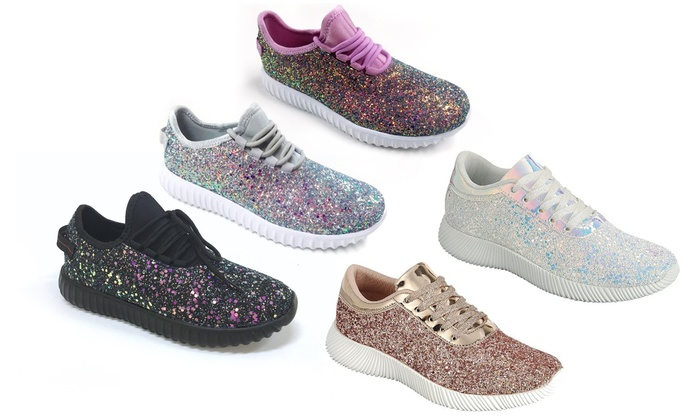 4150f162da38 Up To 52% Off on Women's Glitter Sneakers | Groupon Goods