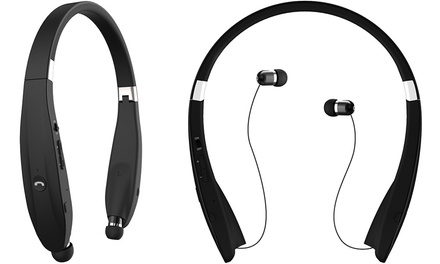 Foldable Streamlined Bluetooth Wireless Stereo Headset