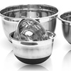 Stainless Steel German Mixing Bowls with silicon Bowl (Set of 4)
