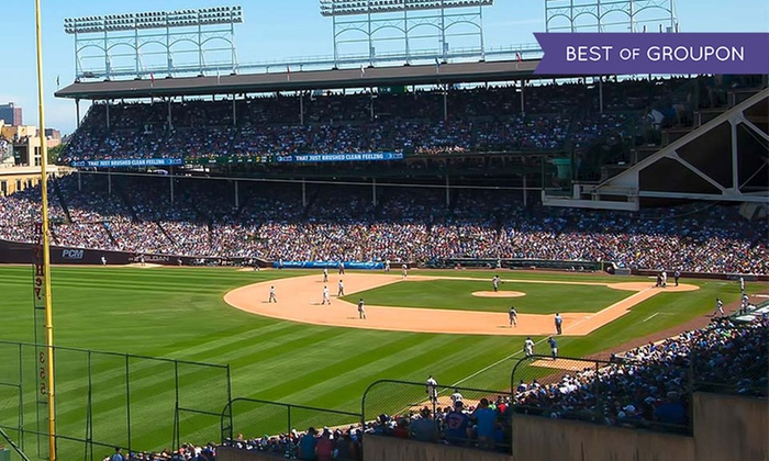 AllInclusive Rooftop Cubs Game Wrigley View Rooftop Groupon - Groupon baseball tickets