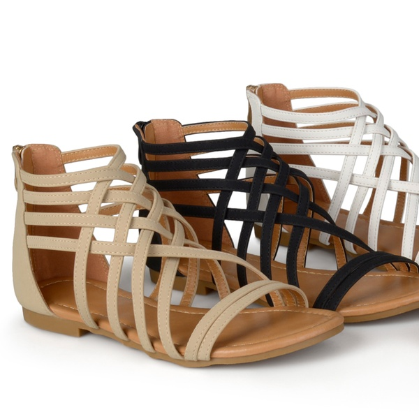 e0aa740bb48 Journee Collection Women s Wide Flat Gladiator Sandals