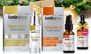 Lumirance Neo-Gold Retinol Serum and Vitamin C Eye Lift with Bonus