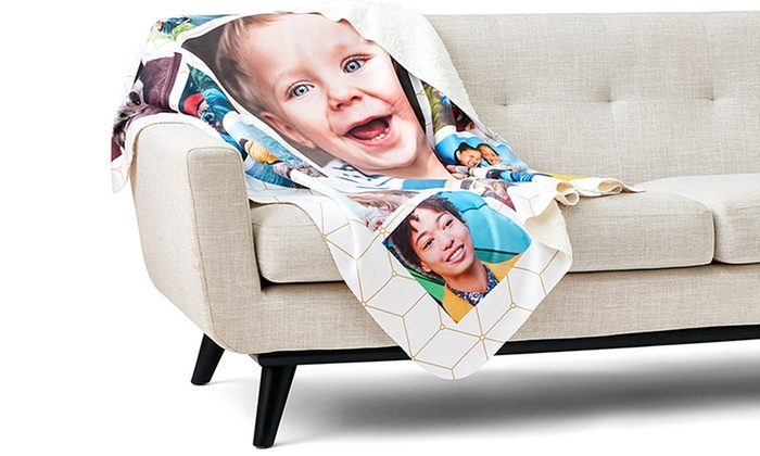 Save up to 94% on Custom Fleece Photo Blankets from Collage.com