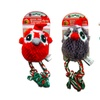 Bow Wow Stuffed Christmas Owl Pet Toy (3-Pack)