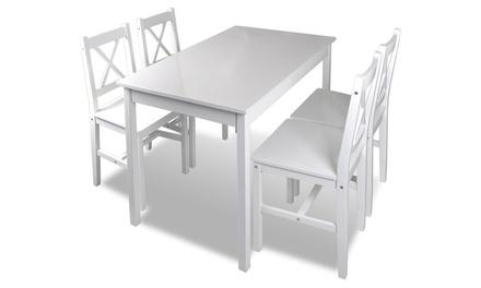 Set eetkamermeubels tafel en 4 stoelen