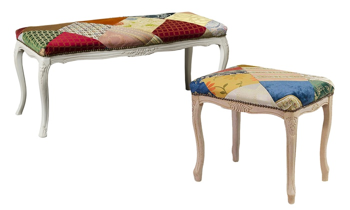 Panca o sgabello patchwork groupon goods