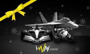 I-WAY Simulation: Pour Noël, 1, 2 ou 3 sessions de Simulation Course Automobile, Avion de Chasse et Moto GP dès 39 € avec I-WAY