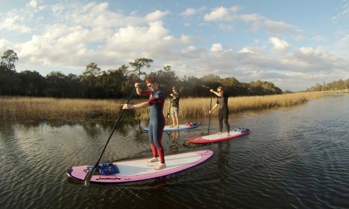Charleston Paddleboard CO. - Charleston: Paddleboard Tour for 2 or 1-Day Paddleboard Rental for 1, 2, or 4 at Charleston Paddleboard Co. (Up to 50% Off)