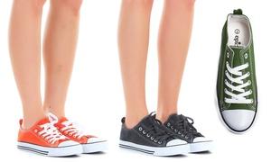 Women's Bi-Color Cap-Toe Sneakers