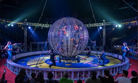Garden Bros. Circus for Two Adults and Two Children on April 18 at 4:30 p.m. or 7:30 p.m.
