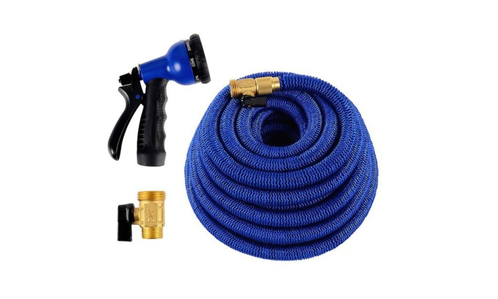 Hose Spray Nozzle >> 100 Ft Heavy Duty Expandable Garden Hose With Spray Nozzle Groupon