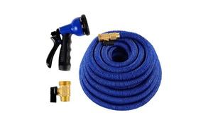 100-Ft. Heavy-Duty Expandable Garden Hose with Spray Nozzle