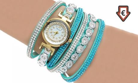 Relojes Seby bañados en oro y adornados con cristales de Swarovski® por 11,99 €