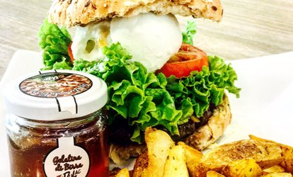 immagine per Menu hamburger di manzo Angus irlandese con dolce e birra al Bar-Collo Pizzeria Steak House (sconto fino a 66%)
