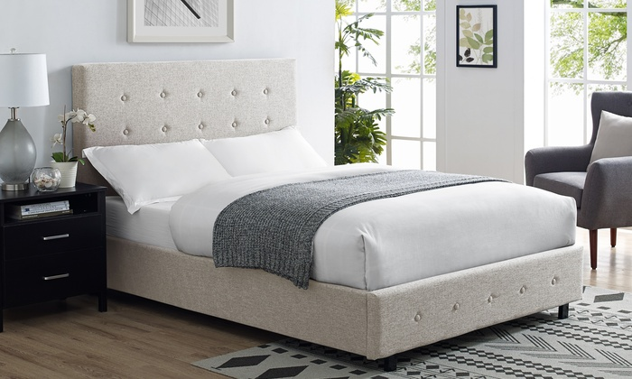 Verona Luxury Fabric Bedframe with Optional Mattress