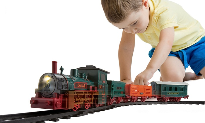 Electric Classic Western Light and Sound Train Set with 1m Track and Three Cars