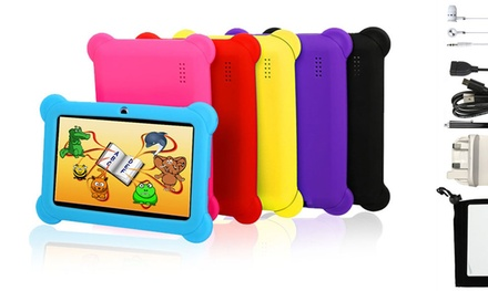 """7"""" Quad-Core 8GB Children's Tablet with Protective Case, Screen Protector, Stylus and Headphones for £40"""