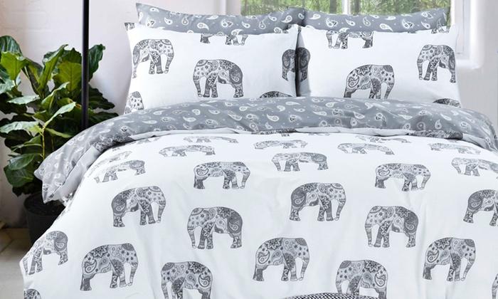 Pieridae Elephants Reversible Duvet Set from £8