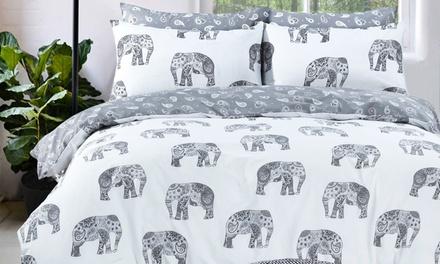 Pieridae Elephants Reversible Duvet Set