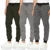 LR Scoop Men's Basic Fleece Marled Jogger Pants