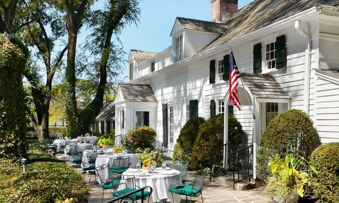 1- or 2-Night Stay with Bottle of Wine, Cheese Plate, and Two Welcome Drinks at Three Village Inn on Long Island Deals for only $129 instead of $245
