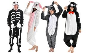 Men's or Women's Plush Animal One-Piece Sleepwear