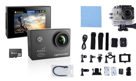 WiFi Action-Cam mit Mega- oder Ultra-Zubehör-Pack in Schwarz, Weiß oder Silber inkl. Versand (Statt: 149,95 € Jetzt: 59,90 €)
