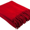 100% Silk Red Fleece Throw Blanket