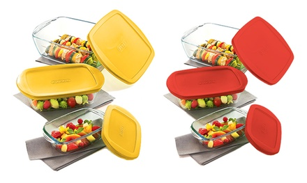 Pyrex Glass Cook and Store ThreePiece Set