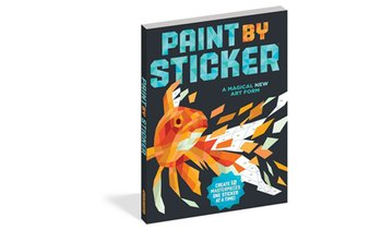 Paint by Sticker Colorful Art Projects Book