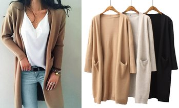 Pocket Longline Cardigan