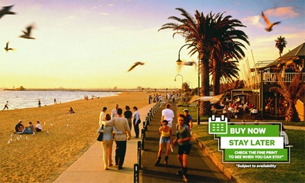 St. Kilda: 2-3 Nights for Up to Six with Wine and Late Check-Out at 4* Amazing Accommodations St Kilda