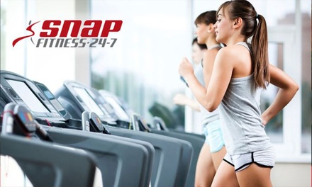 One-Month Gym Membership for One ($10) or Two People ($15) at Snap Fitness, Three Locations (Up to $150 Value)
