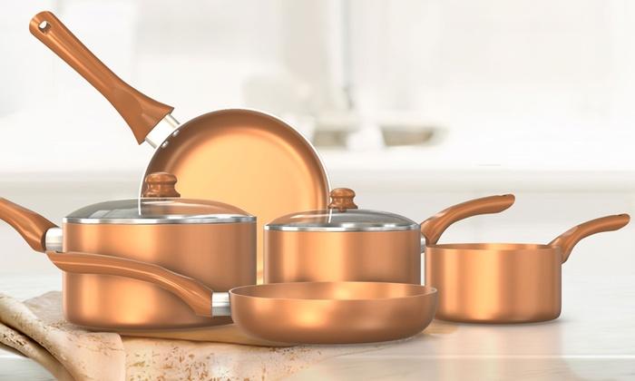 Jusqu A 61 Batterie De Cuisine Ceramique Groupon