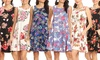Nelly Women's Printed Sleeveless Dress. Plus Sizes Available