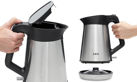 aeg quick boil brushed stainless steel kettle