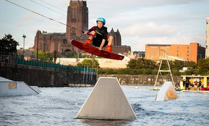 Beginner or Beginner Pro Pass Wakeboarding Lesson at Liverpool Wake Park (36% Off)
