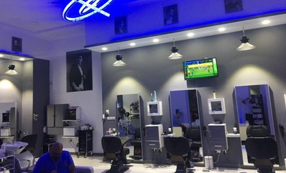 Gents' Mani-Pedi, Foot Spa Treatment and Scrub with Optional Oil, Mask, Haircut and Shave at Blue Shadows Gents Salon