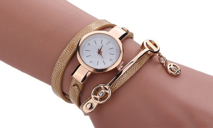 jusqu 39 87 montre double bracelets serpent groupon. Black Bedroom Furniture Sets. Home Design Ideas