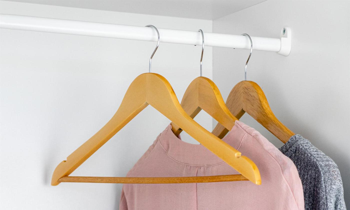 Natural Wooden Coat Hangers from £9.98 (28% OFF)