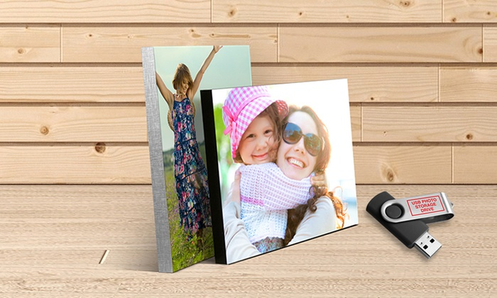 """PictureBlocks.com: 16""""x20"""", 20""""x24"""", or 20""""x30"""" Picture Block with Free USB Photo Storage Drive from PictureBlocks.com (Up to 75% Off)"""