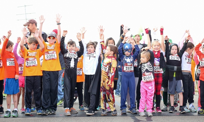 up to 50 off entry to halloween hustle 5k