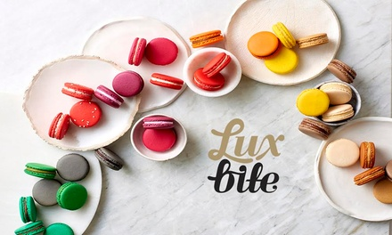 Box of 12 $18 or 16 Macarons $22 from LuxBite, Two Locations Up to $40 Value