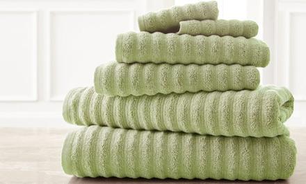 Luxury Spring Bloom 6-Piece 100% Cotton Quick-Dry Towel Set